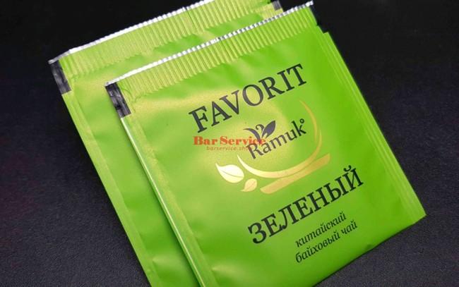 2 пакетика зеленого чая