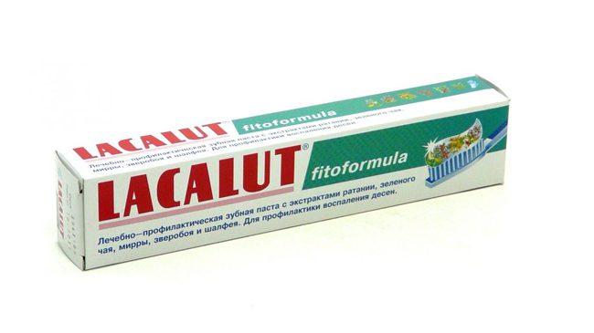 зубная паста Лакалют фитоформула