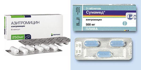 Азитромицин или сумамед