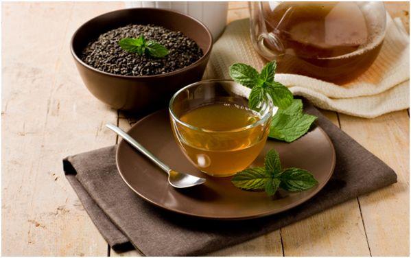 чай из заварки с мятой