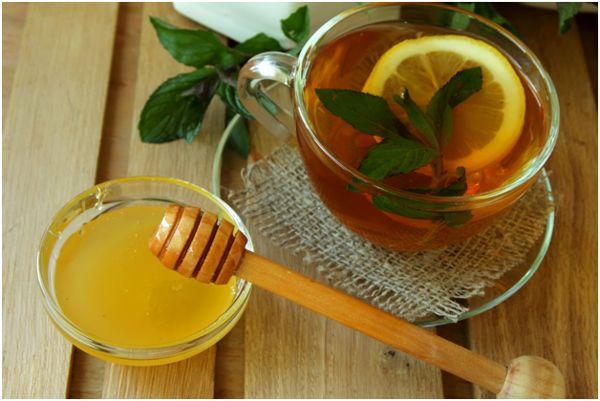 чай мятный с медом