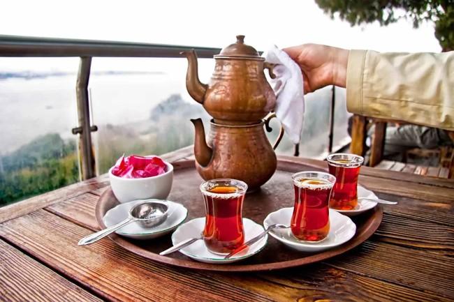 чай по турецки в двухэтажном чайнике