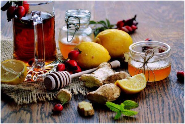 чай с шиповником, имбирем и лимоном