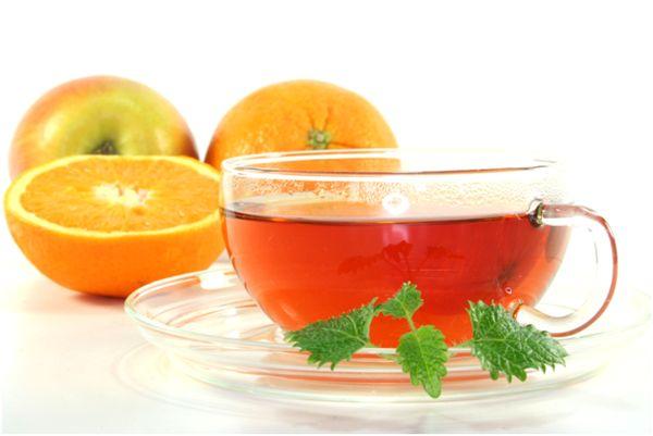 чай с яблоком и апельсином