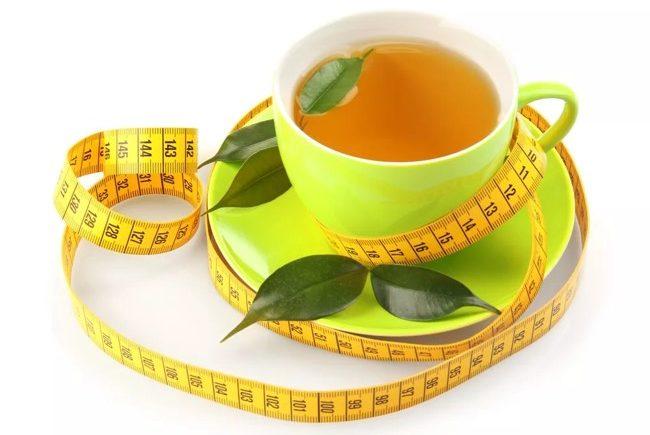 чашка чая и сантиметр