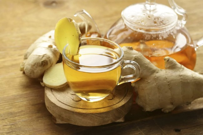 чашка чая с имбирем