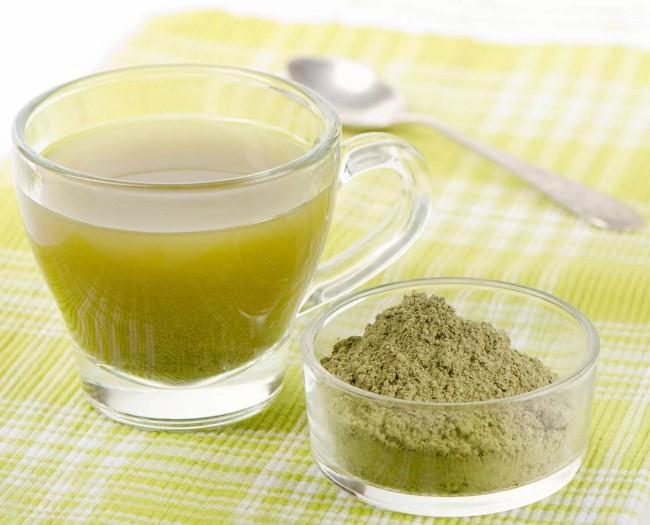 чашка экстракта зеленого чая