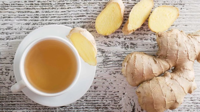 чашка имбирного чая
