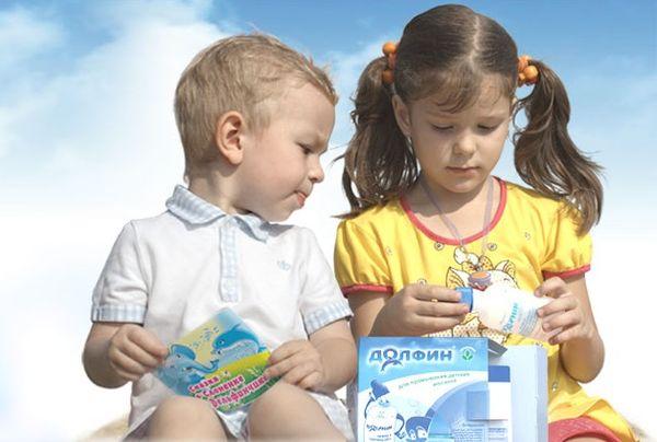 Как правильно промывать нос Долфином детям