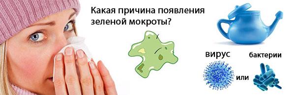 green mucus