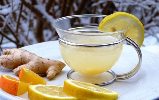имбирный чай зимой