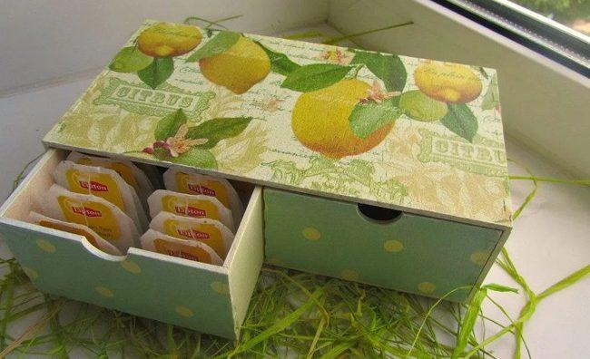 коробочка для чая