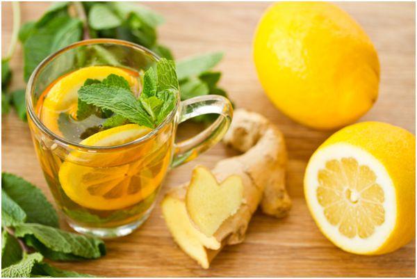 мятный чай с апельсином
