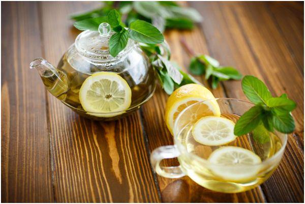 мятный чай с лимоном