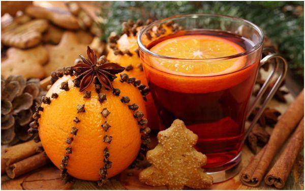 новогодний апельсиновый чай