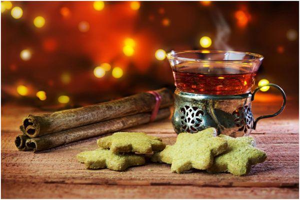 новогодний чай с корицей