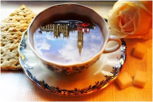 отражение биг бена в чае