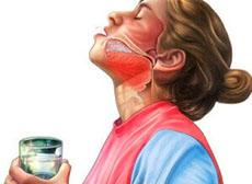 Полоскание горла солью, йодом и содой