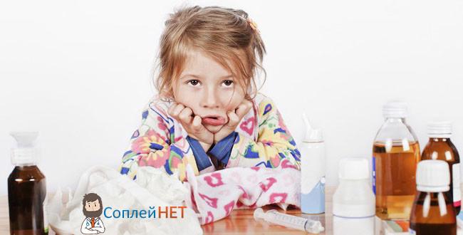 Симптомы насморка у девочки