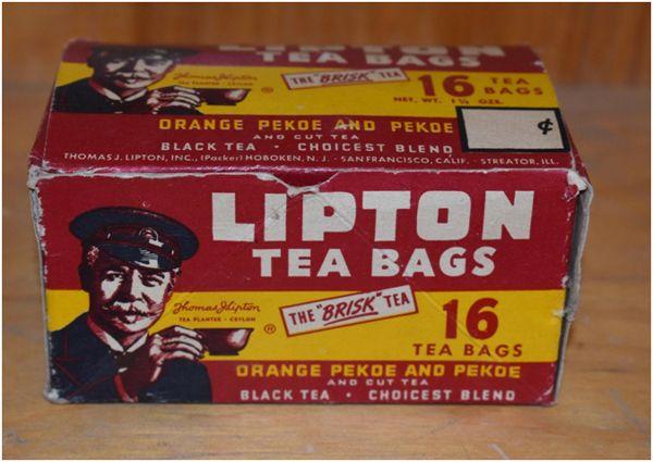 старая упаковка липтон