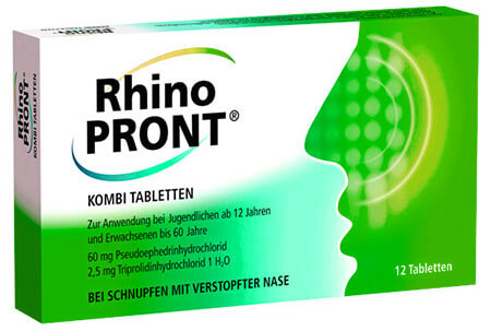 Ронопронт - таблетки от заложенности носа