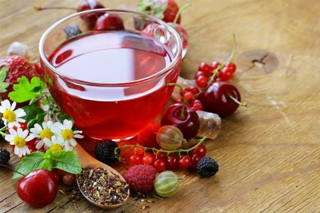 турецкий чай с ягодами